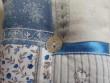 Levandulový mini polštářek - modrá, bílá