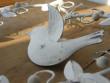 Bílé kovové srdíčko