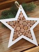 Dřevěná špalíčková hvězda velká