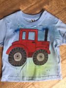Tričko dětské traktůrek modré