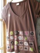 Tričko spirálkové