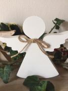 Anděl dřevo malý bílý