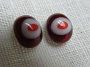 Náušnice červené pecky