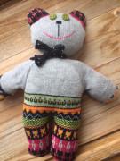Pletený medvěd strakatý