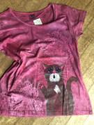 Dámské tričko kocour a krajky