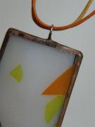 Náhrdelník tiffany do oranž