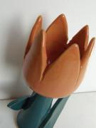 Keramický tulipán oranžový