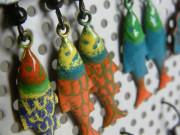 Náušnice smaltované rybičky