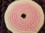 Brož růžové kolečko