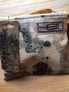 Malá látková taštička ecoprint placatá