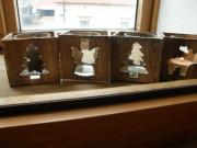 Vánoční dřevěné svícny