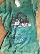 Dámské tričko dvě koťátka