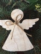 Anděl dřevo velký přírodní
