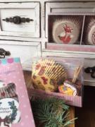 Vánoční pečení košíčky a domečky