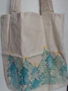Vánoční nákupní taška zimní les