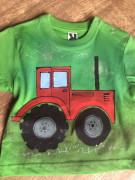 Tričko dětské traktůrek zelené