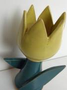 Keramický tulipán žlutý