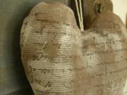 Srdce s levandulí hnědo-šedé