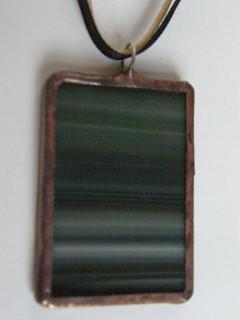 Náhrdelník tiffany zelené proužky