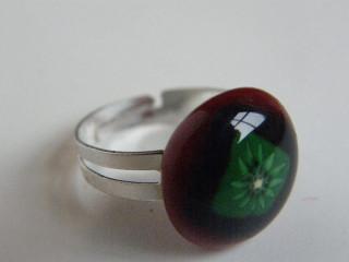 Skleněné prsteny malé - červené