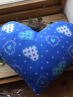 Voňavý polštář srdce modrý