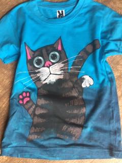 Tričko dětské tyrkys