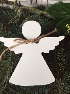 Anděl dřevo velký bílý