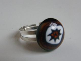 Skleněné prsteny malé - hnědé