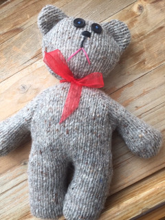 Pletený medvěd melír