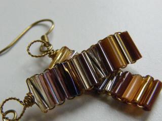 Náušnice z drátků a tyček