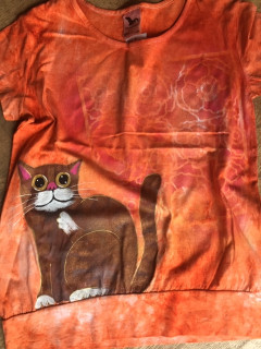 Dámské tričko kočka oranž