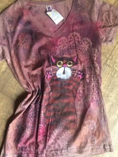 Dámské tričko kocour v krajkách