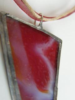 Náhrdelník tiffany červený