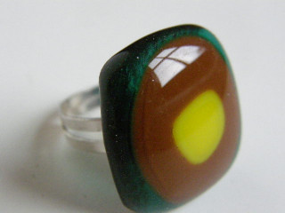 Skleněné prsteny větší - zelené